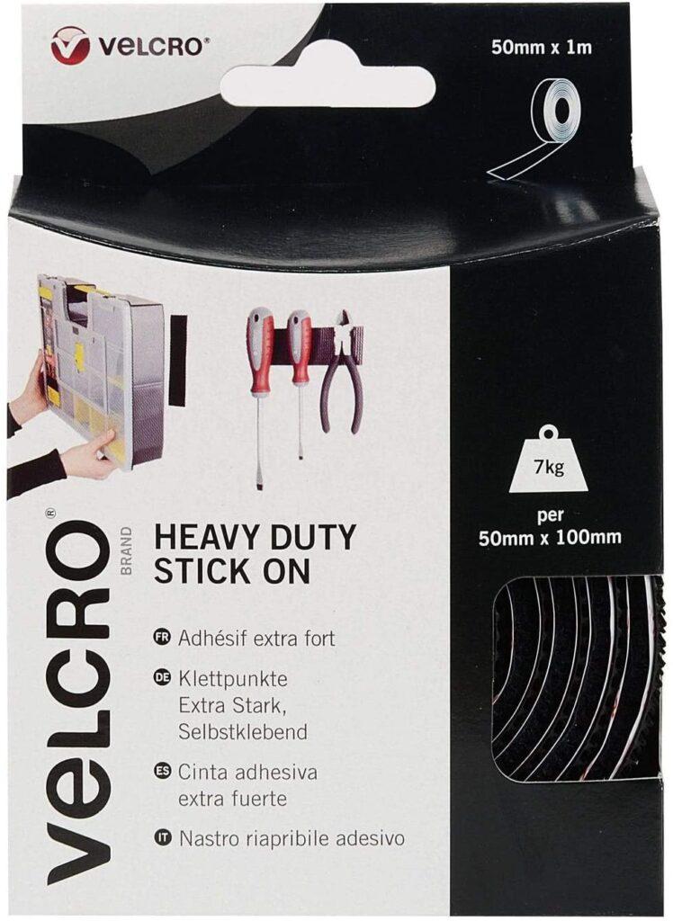 Velcro heavy duty stick on tape in box