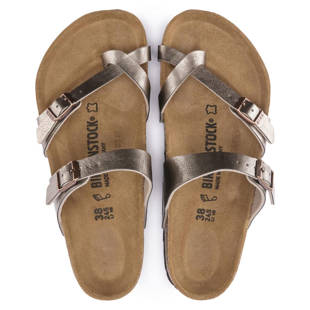 Birkenstock Mayari Birko-flor Sandals in graceful taupe - top view