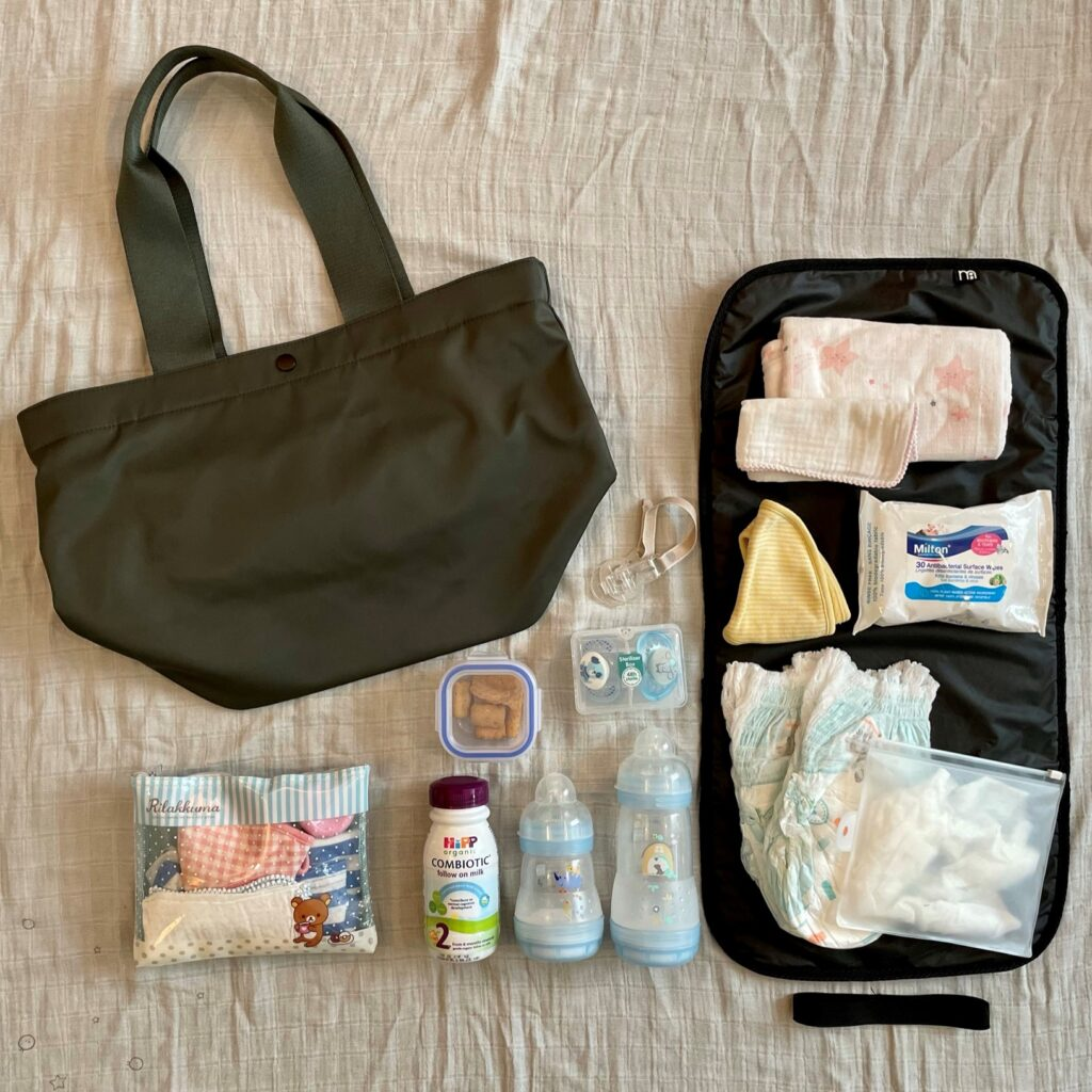 Uniqlo green bag and its contents