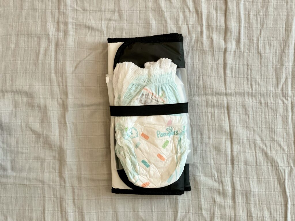 Changing mat, wet wipes and nappies bundle
