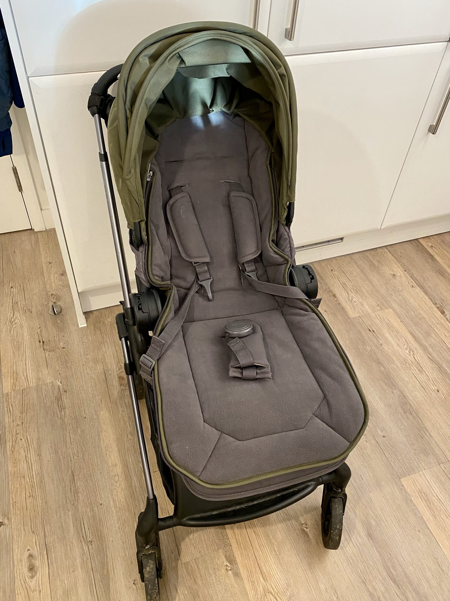 Author's iCandy Raspberry pushchair with seat liner fleece side up
