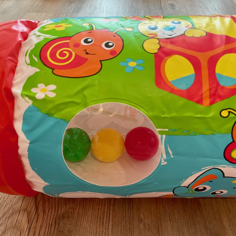 Playgro inflatable roller window view