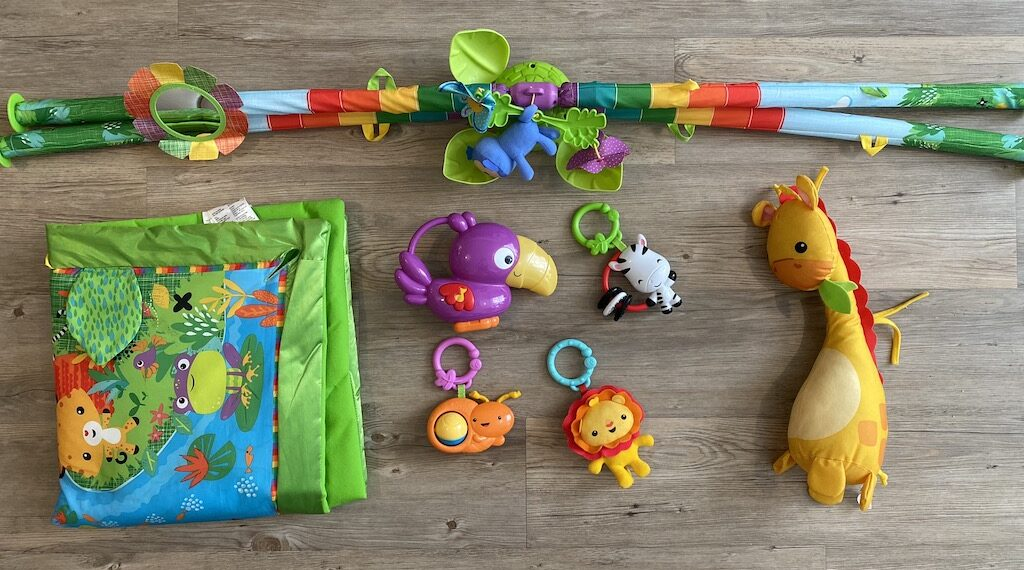 Fisher Price Rainforest Play Gym toys detached