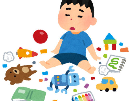 Illustration of boy surrounded by toys for feature image