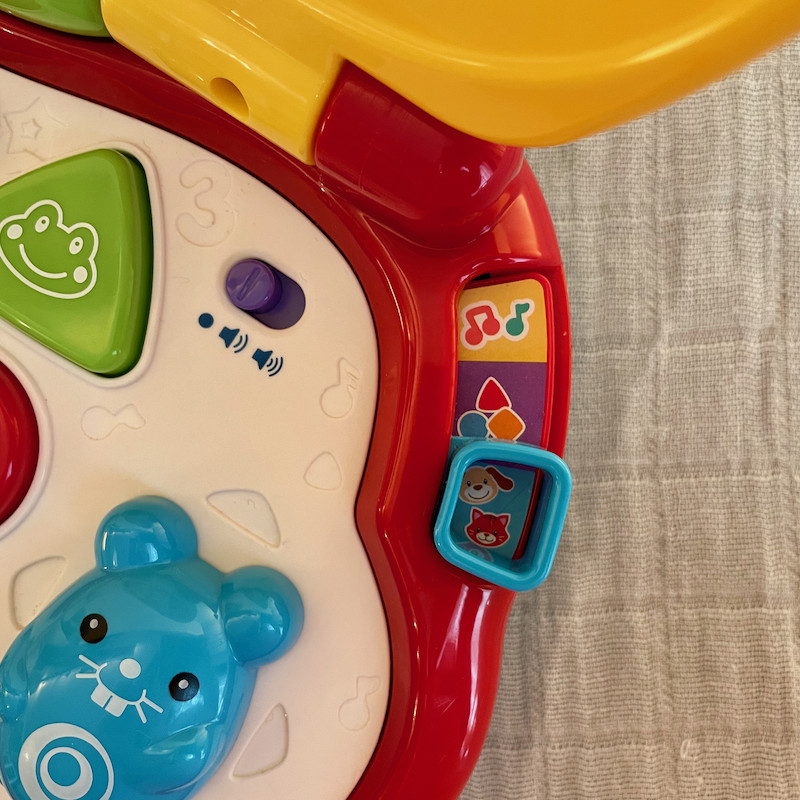 Vtech Baby's First Laptop Close Up with multiple toys