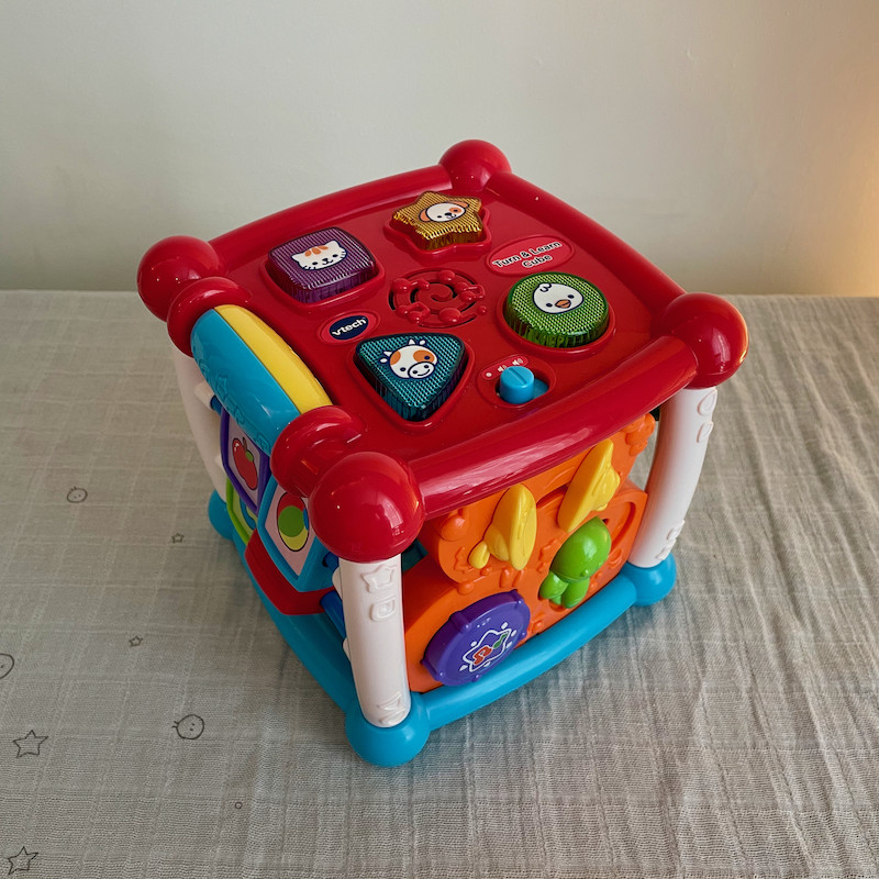 Vtech Turn and Learn Cube with mulitple toys