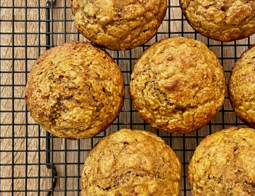 Banana Carrot Chia Seed Muffins - Square for feature image
