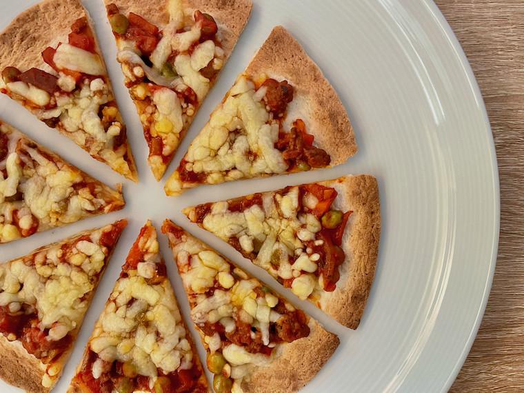 Final Tortilla Pizza close up