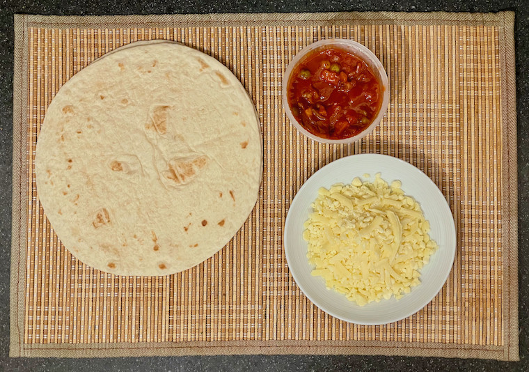 Ingredients for Tortilla Pizza
