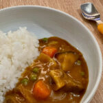 Japanese curry served with rice for toddler