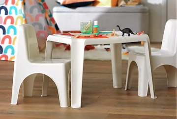Argos Plastic Table and Chairs
