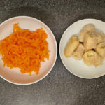 Grated carrot and banana