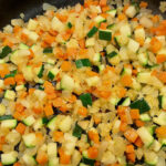 Step 2 Fry Carrot and Courgette