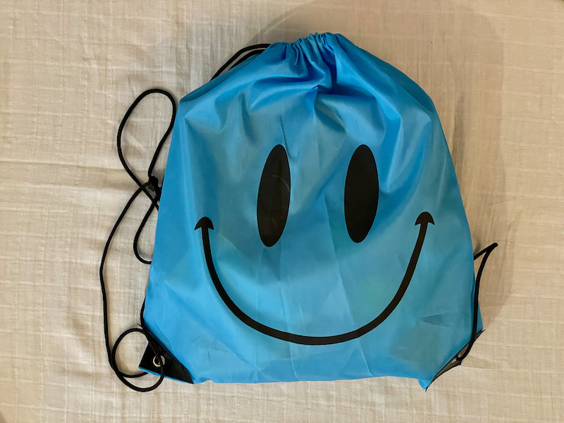 Vykor Aqua Mat inside blue drawstring bag