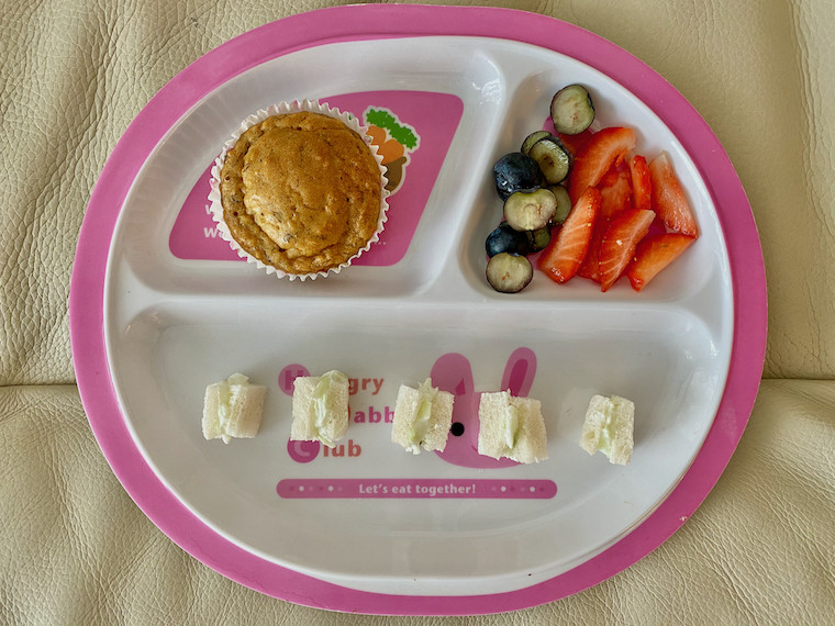 Apple-Banana-Carrot-Muffins-on-a-snack-plate-for-baby
