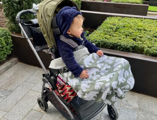 Boy in pushchair with Bundlebean Footmuff - Feature Image