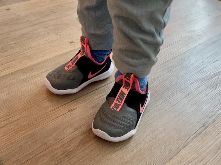 Boy wearing Nike Flex Runner