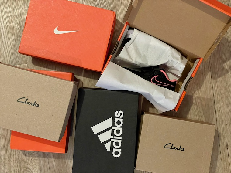 Collection of shoe boxes