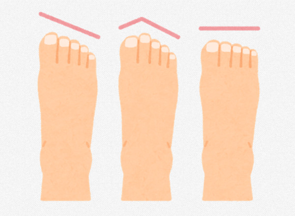 Different types of feet for kids shoe sizes