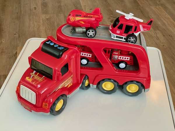 Fire Engine toy turning