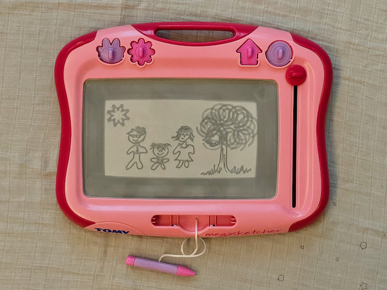 Pink Tomy MegaSketcher from Argos